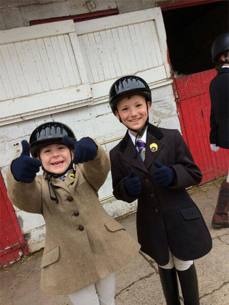 Thumbs up for Horse Riding